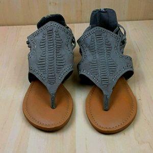 Altar'd State Leather Zip Back Sandals